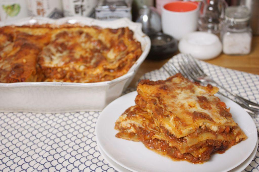 lasagna mushroom bolognese