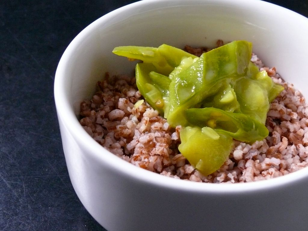red rice and chinese okra