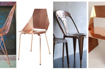 copper dining chairs LS