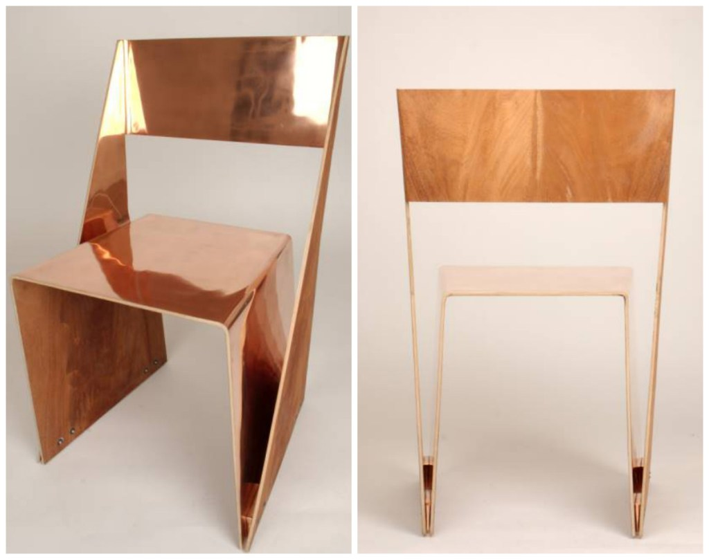 stackable copper chairs
