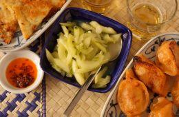 briny garlic cucumbers