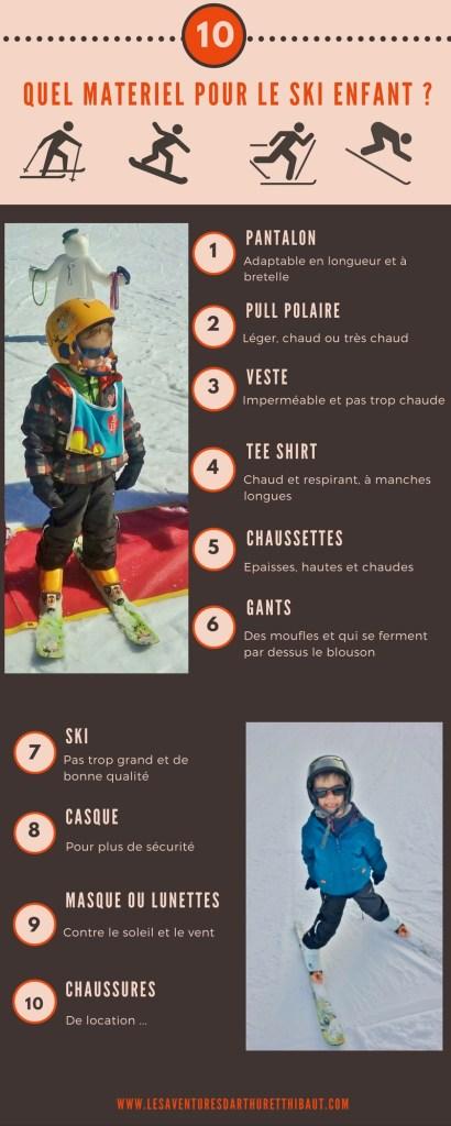 Quel materiel pour le ski enfant