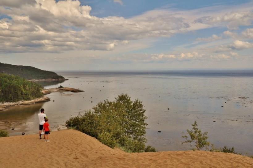tadoussac, secteur des dunes, vue sur le st laurent
