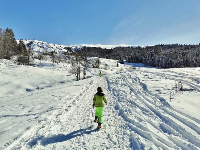 Rando raquettes ski au dos de cret voland