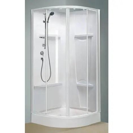 cabine de douche oceane 1 4 de rond