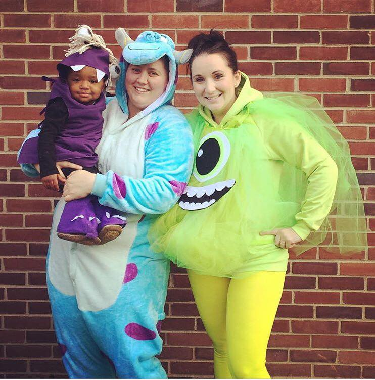 Halloween Costumes For Family Of 3 With A Baby.Queer Family And Couple Halloween Inspiration Lesbian Mommies