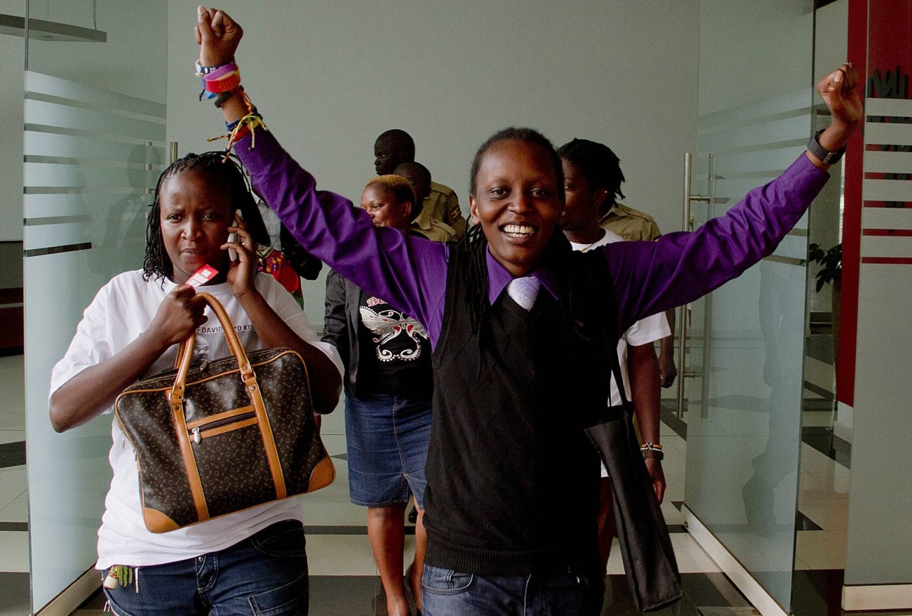 Uganda, after a five-judge panel announced that a punitive anti-gay law was invalid.
