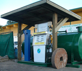 The Vancouver Biodiesel Coop Cardlock Pump at 360 Industrial Ave, Vancouver