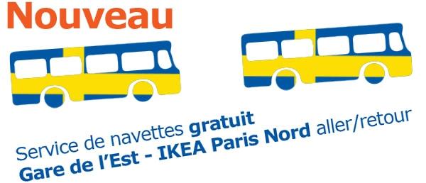 Une Navette Gratuite De La Gare De Lest Pour Rejoindre Ikea