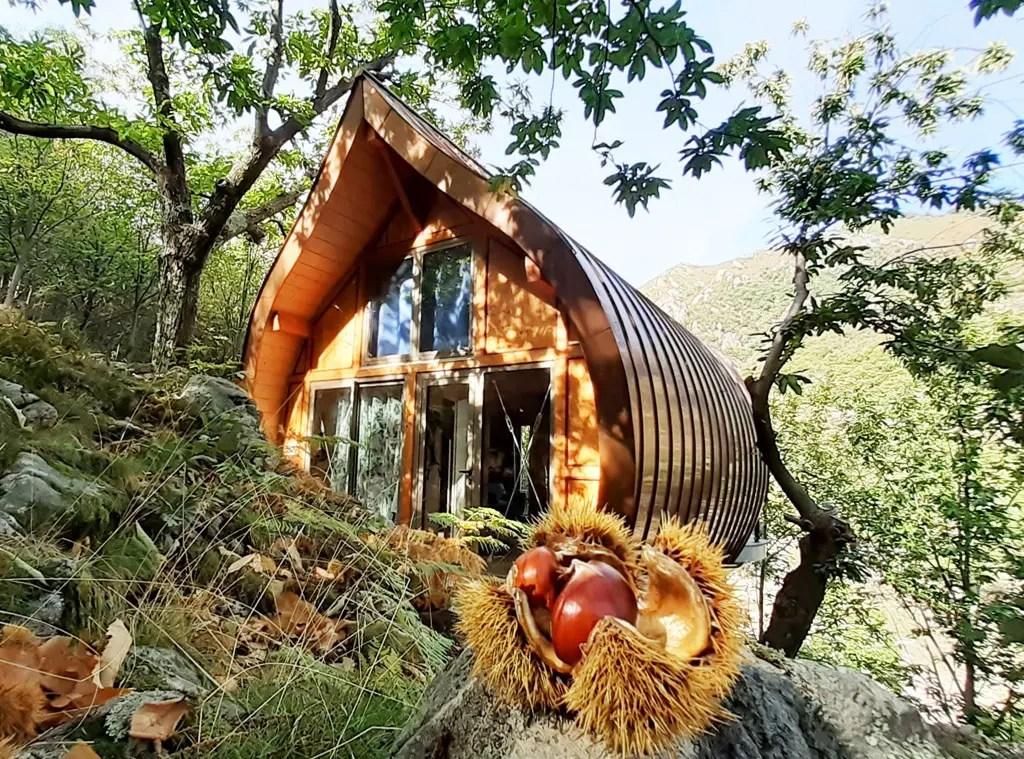 Châtaigne - cabane insolite en Ardèche