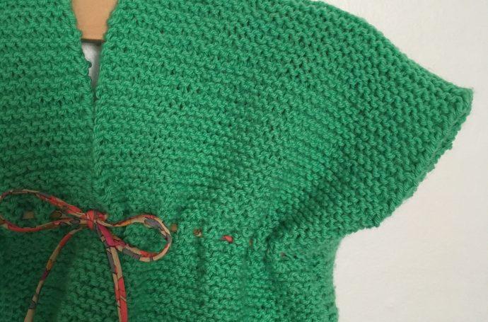 petite robe facile au tricot 3 mois