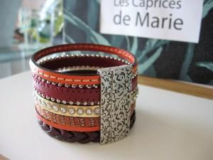 Bracelet Manchette fermoir aimanté en cuir Italien