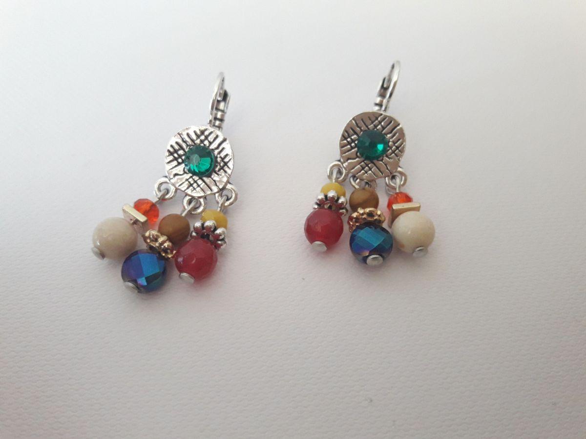 Boucles d'oreille 3 Rangs multicolore