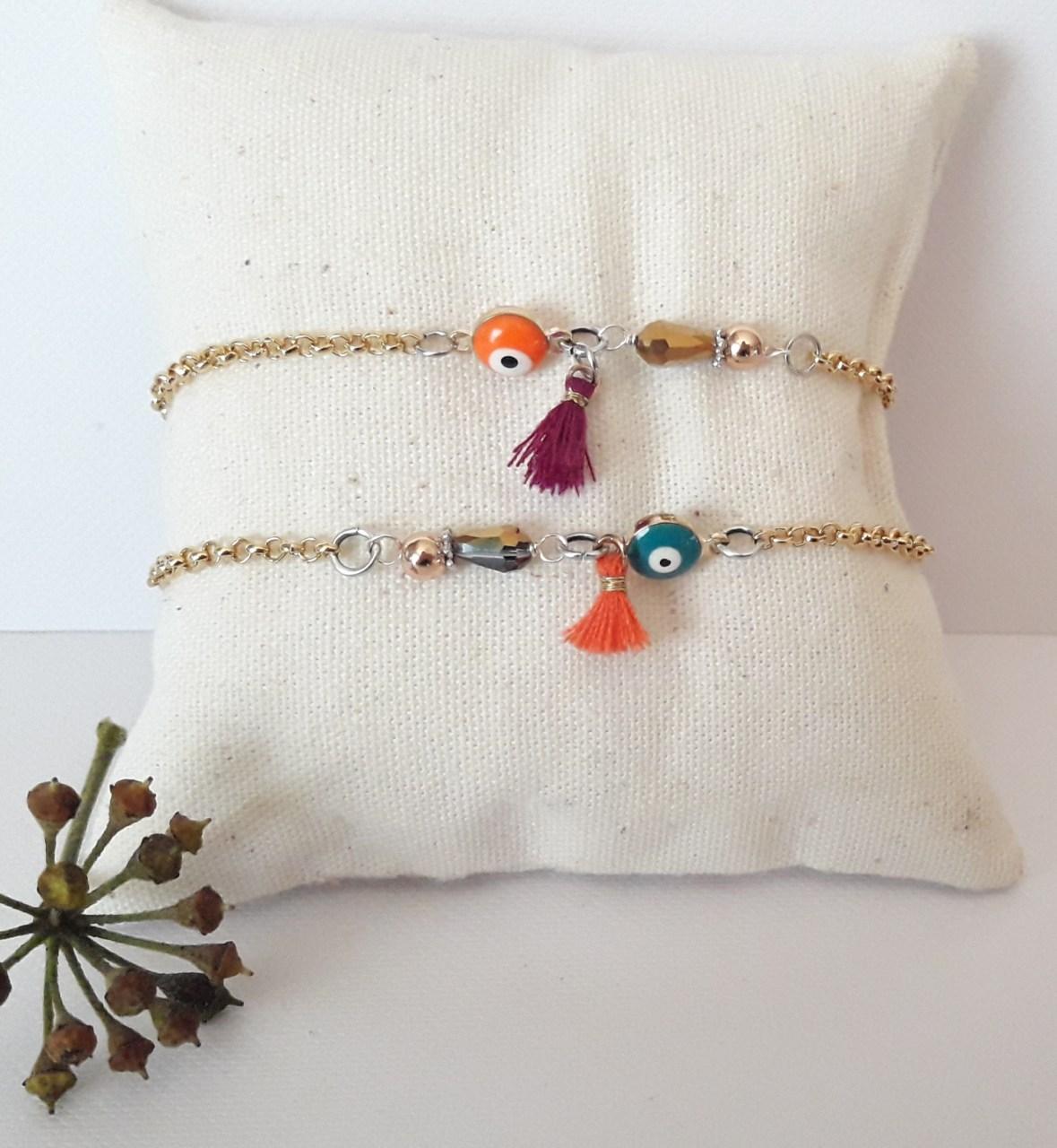 Bracelet chaine oeil