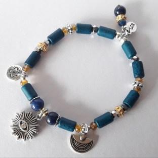 Bracelet œil bleu céramique grecque
