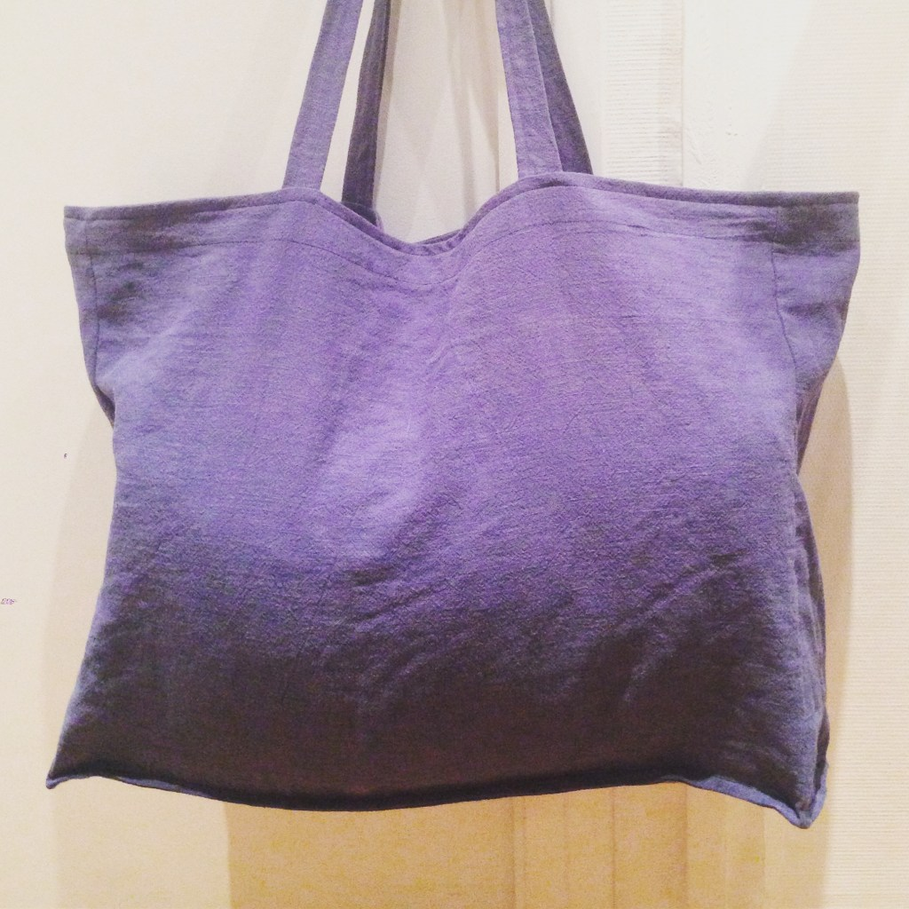 Couture : Maxi tote bag en lin