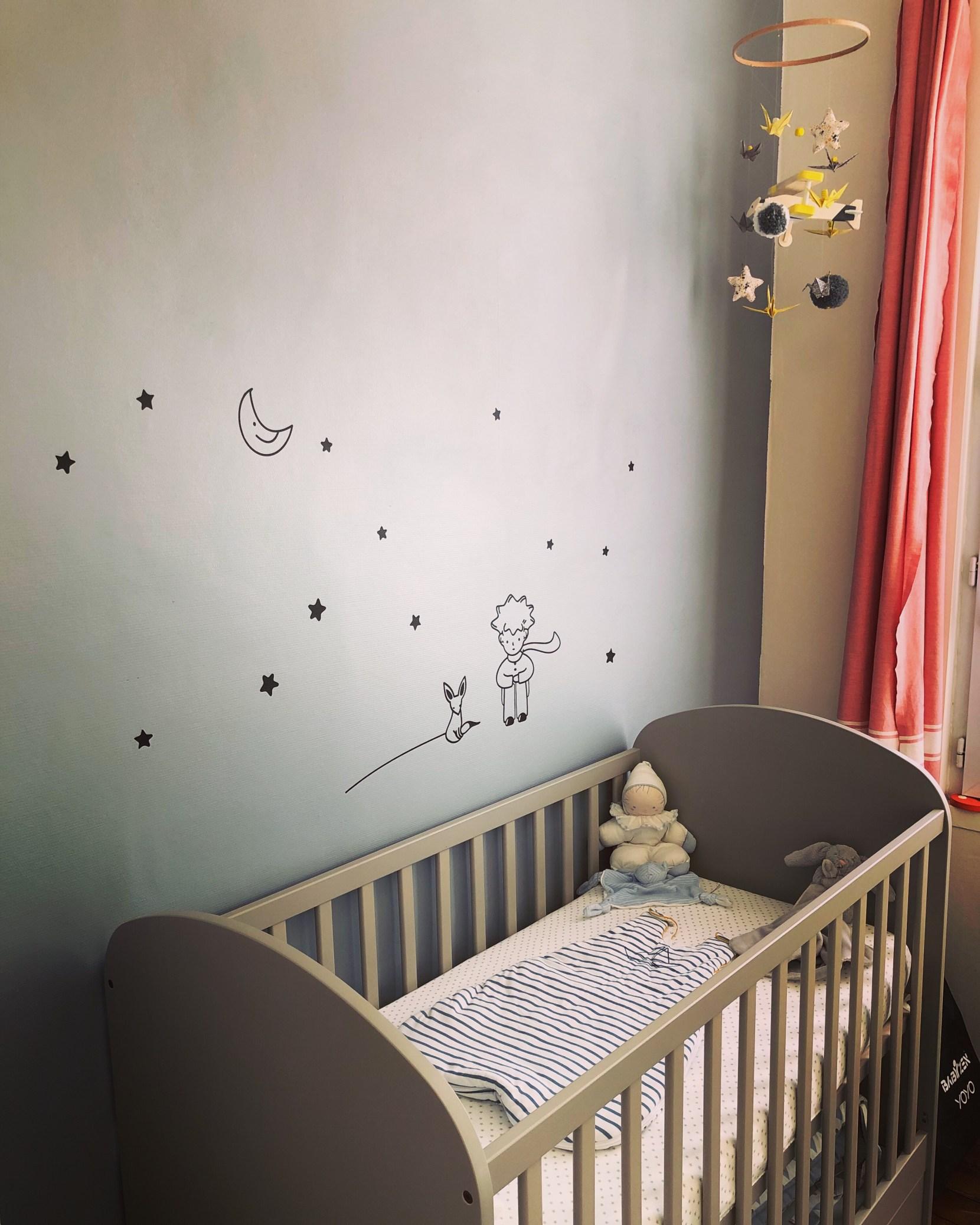 Peinture Chambre Bébé Jaune Et Gris la chambre de bébé basile - les carnets de del