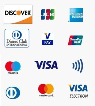 logo payment cards credit cards credit cards discovert JCB American express Diners CLub VPAY UnionPay Maestro Visa NFC