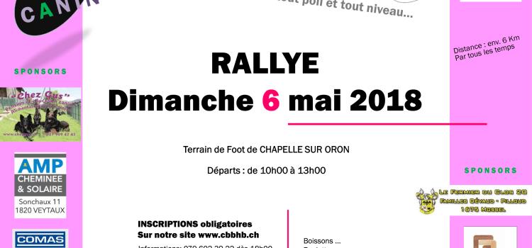 Rallye 2018 du Berger Belge Haute-Broye