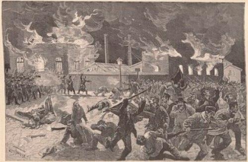 1886 C'est l'insurrection. Les crève-la-faim créent la panique.
