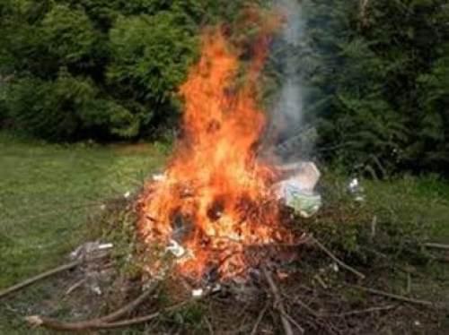 Propreté - Incinération de déchets ménagers