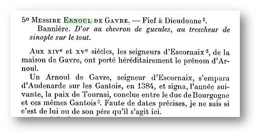 Histoire de Ernoul de Gavre