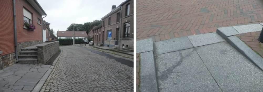PMR - Obstacles sur un trottoir