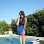 summer blue look