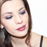 maquillage halo violet bleu