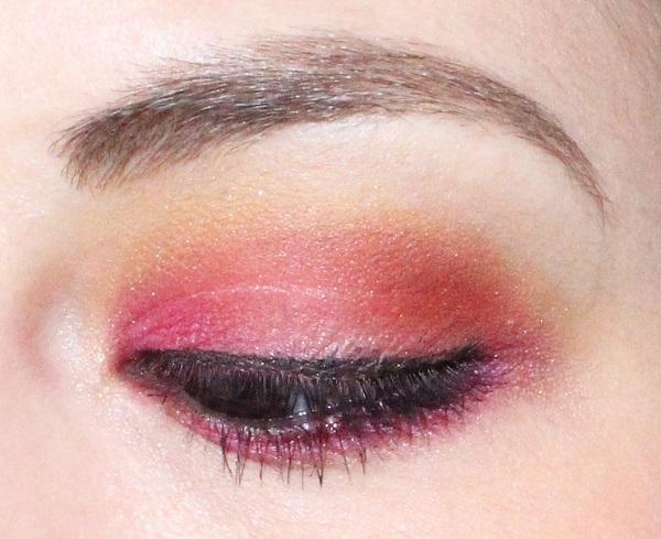 maquillage rose orange full spectrum