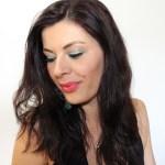 maquillage emeraude et argente