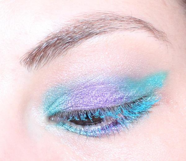 maquillage turquoise sirene