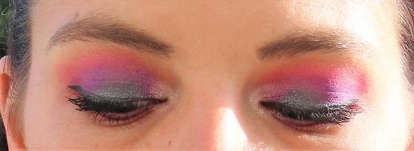 maquillage rose et violet juvia