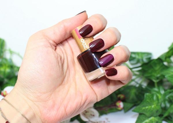 zao vernis a ongles naturel cerise noire