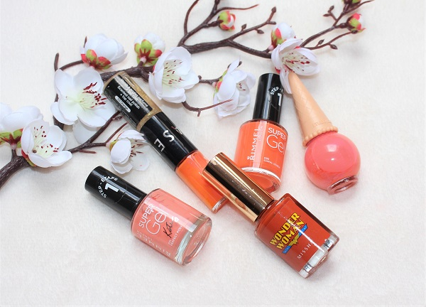 vernis a ongles oranges