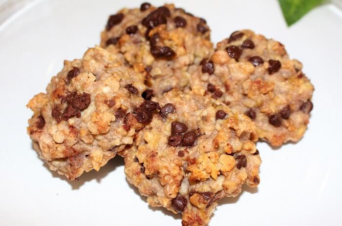 recette biscuits sport cookies banane avoine chocolat