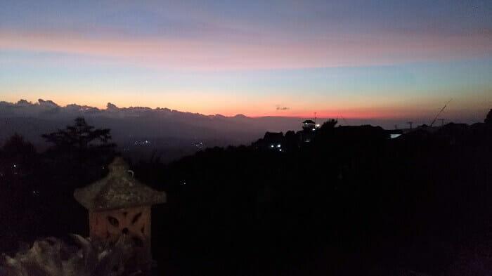 coucher de soleil bali munduk