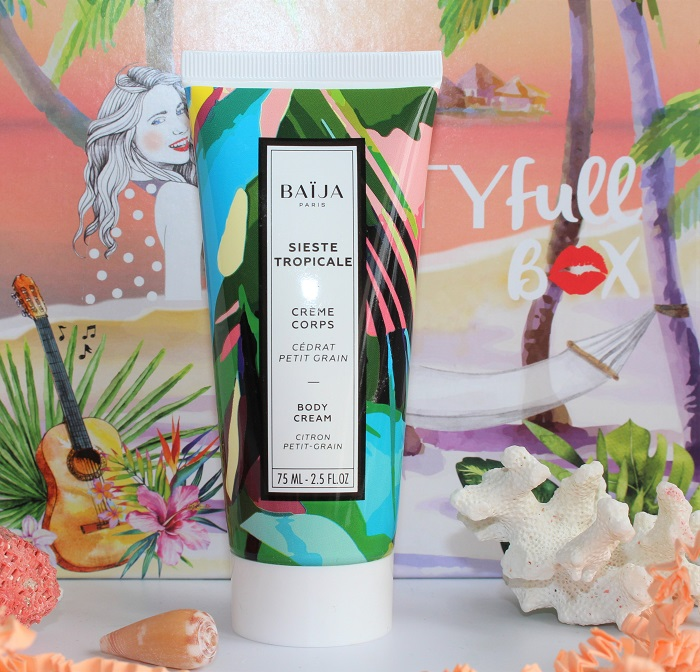 crème corporelle Sieste Tropicale Baïja biotyfull box