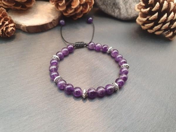 bracelet améthyste pierre naturelle