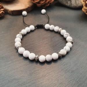 bracelet howlite blanche