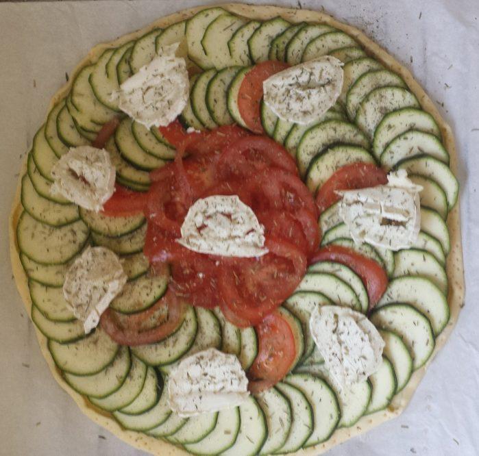 Courgette-tomate-chèvre