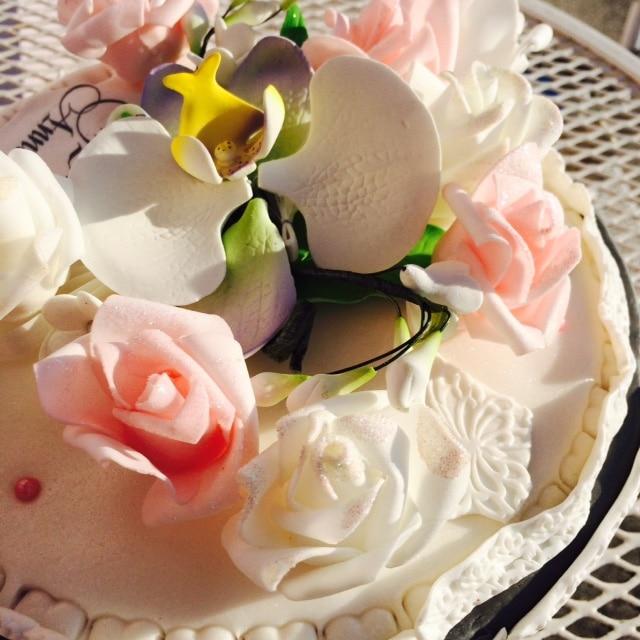 Gateau Fleurs Cake Design Pate A Sucre Les Delices De Mary