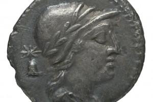 bonnet de dioscures / Chiffre 37 en grec 3.79gr _ 18.5mm