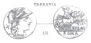 Denier Trebania _ RRC 241/1a