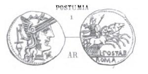 Denier Postumia _ RRC 252/1