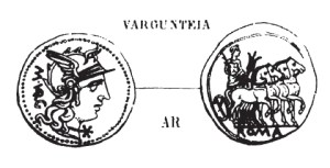 Denier Vargunteia _ RRC 257/1