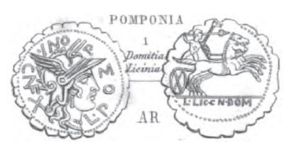 Denier Serratus Pomponia _ RRC 282/4