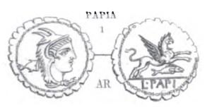 Denier Serratus Papia _ RRC 384/1