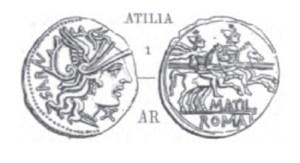 Denier Atilia _ RRC 214/1c