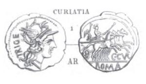 Denier Curiatia _ RRC 223/1